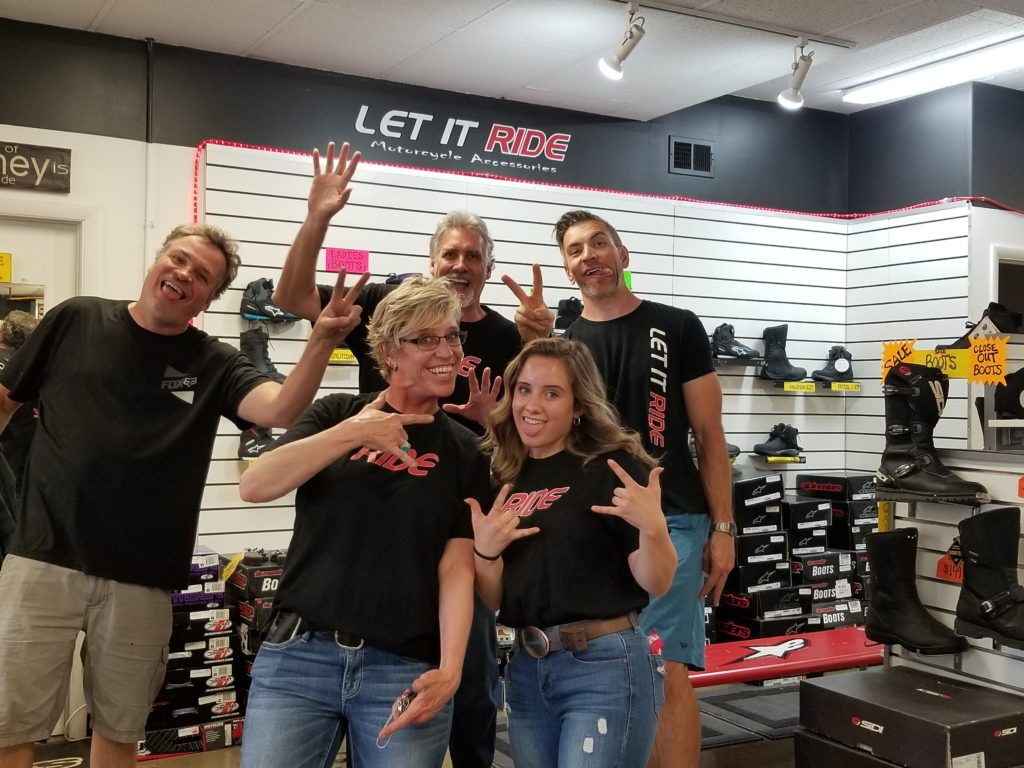 The Let it Ride Crew: Angela, Mallory, Stevie, Robbie, and Dustin